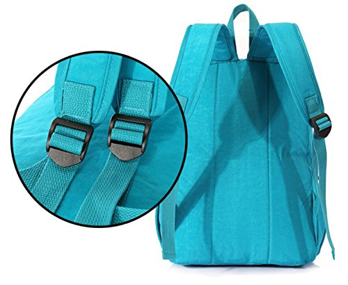 FZHLY Bolso De Hombro De Ridge Para Estudiantes Bolsa De Hombro Simple,SkyBlue WillowGreen