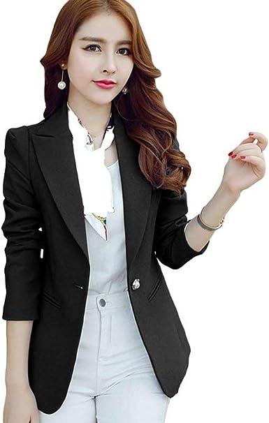 Americana Mujer Slim Fit Negocios Oficina Blazer Basicas ...