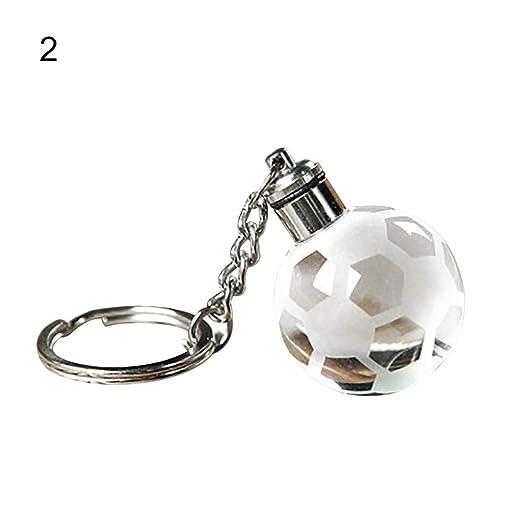 YUnnuopromi - Llavero de Bola de Navidad con luz LED, diseño de ...