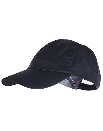34b5b29f20ecb Men's Barbour Waxed Sports Cap - Black: Amazon.co.uk: Clothing