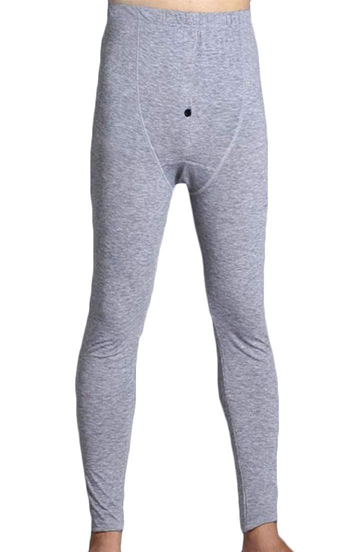 JuJuTa Mens High Waisted Moder Long Johns Pants Housecoat Stretch Leggings
