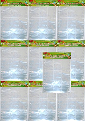 9 Pocket Trading Card Protector Page (100 Sheets)