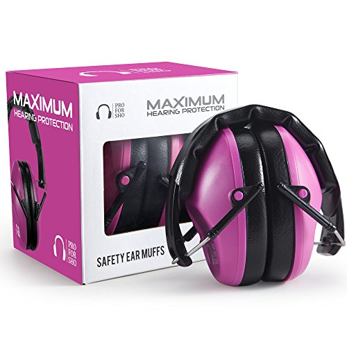 Pro-For-Sho-34dB-Shooting-Ear-Protection-Special-Designed-Ear-Muffs-Lighter-Weight-Maximum-Hearing-Protection-Pink