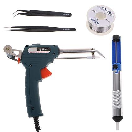 A0127 5 piezas 220 V calor externo soldador eléctrico estaño Kit de envío automático estaño pistola