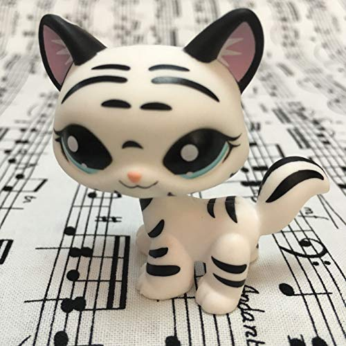 Littlest pet Shop W//B Striped Tiger cat Kitty Blue Eyes#1498 Get 1 Pcs