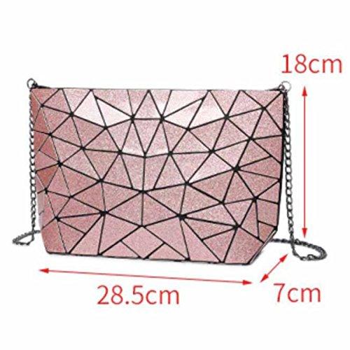 Bolso De Hombro Personalizado Geométrico De La Moda De Las Mujeres,Bronze Pink