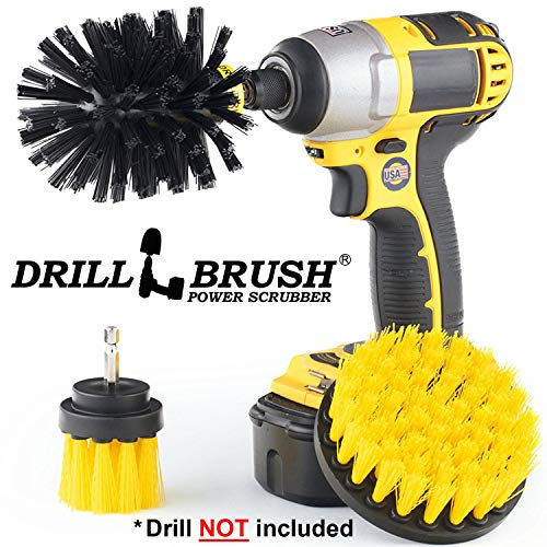 Drill Brush - Kitchen - Grout Cleaner - Stove - Oven - Pots and Pans - Cast Iron Skillet - Outdoor - BBQ Accessories - Grill Tools - Grill Brush