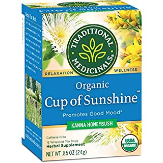 Traditional Medicinals Organic Cup of Sunshine Kanna Relaxtion Tea, 16 Tea Bags (Pack of 6)