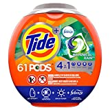 Tide PODS Laundry Detergent Liquid Pacs, Botanical Rain Scent, 4 in 1 HE Turbo, 61 Count Tub (Packaging May Vary)