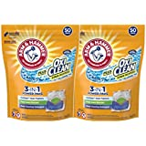 Arm & Hammer Plus OxiClean 3-in-1 HE Laundry Power Paks, 2 pack, 50 count, 100 loads