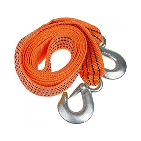 Tow strap heavy duty-tow straps heavy duty-tow straps with loops- 3Meter 3Tons Car Heavy Duty Tow Strap Traction Rope Trucks with Forge Iron Safety Hooks Car Tow Rope (Random - Tow Rope Hook