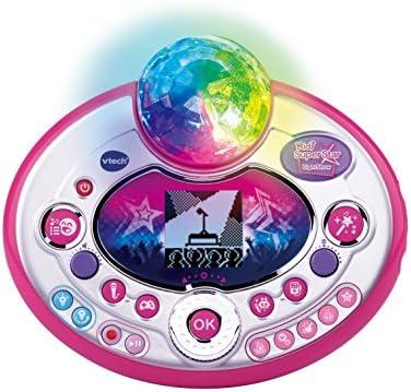 VTech 80-165804 Kidi Super Star Lightshow Karaoke Karaokemaschine, Normalverpackung, Mehrfarbig