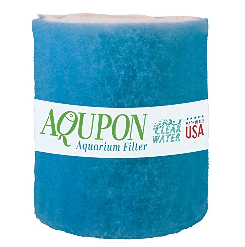 Roll Dye - Aqupon Aquarium Filter Media Pad - Cut to Fit Roll (Dye-Free/Blue Bonded) 0.75 Inch Thickness (6 ft, Blue)