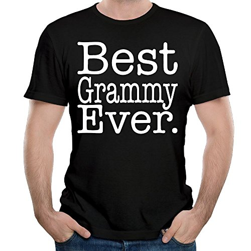 WYF Mens T-Shirt-Fashion Best Grammy Ever Ladies Black 5XL