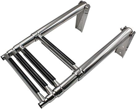 4 Escalera plegable de acero inoxidable telescópica Barco for Marine Yate, antideslizante escaleras de extensión portátiles con Cruceta antideslizante - 116cm / 45.67inch: Amazon.es: Bricolaje y herramientas
