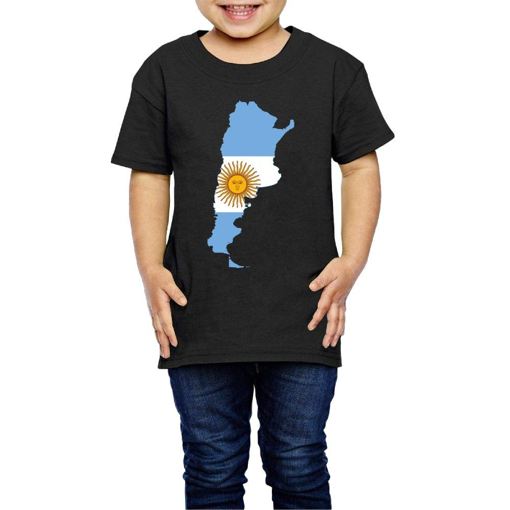 XYMYFC-E Flag Map of Argentina 2-6 Years Old Kids Short-Sleeved T Shirt