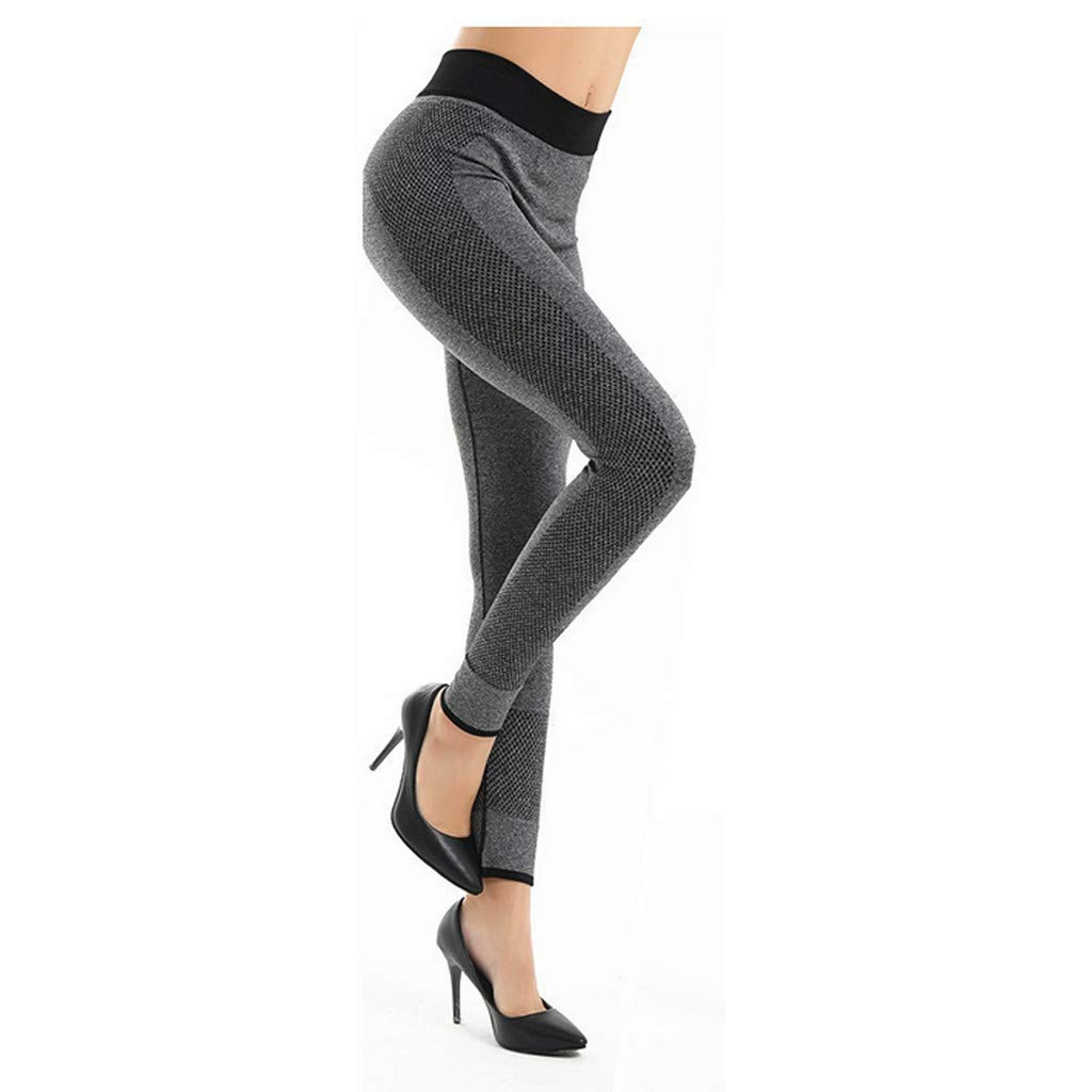 Sunyastor High Waist Yoga for Women Lightweight Leggings Running Gym Yoga Athletic Pants Tummy Control Compression Pant Gray by Sunyastor women pants (Image #6)