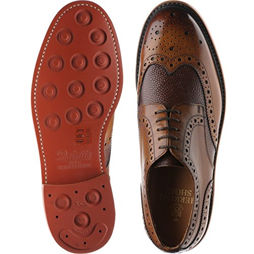 Aringa REDBOURNE bicolore Brogue in vitello marrone e grana, multicolore (Tan Calf and Grain), 44 EU