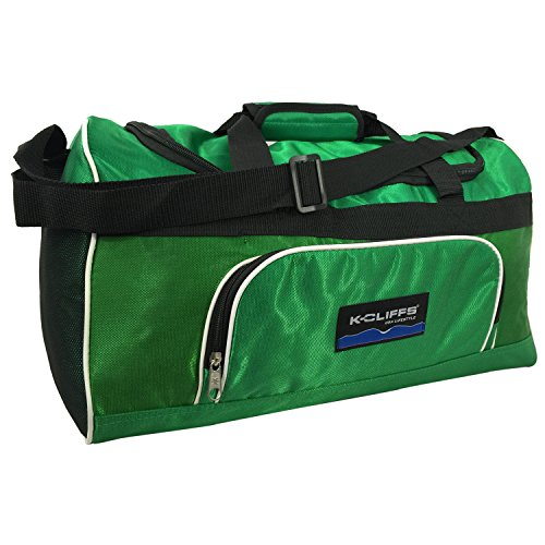 Sports Duffel Bag Gym Bag Medium Travel Bag Fitness Sport Equipment Gear Bag Green ()