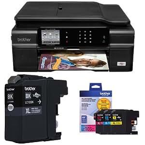 Brother MFCJ870 Wireless Color Inkjet Printer and Color Ink Bundle