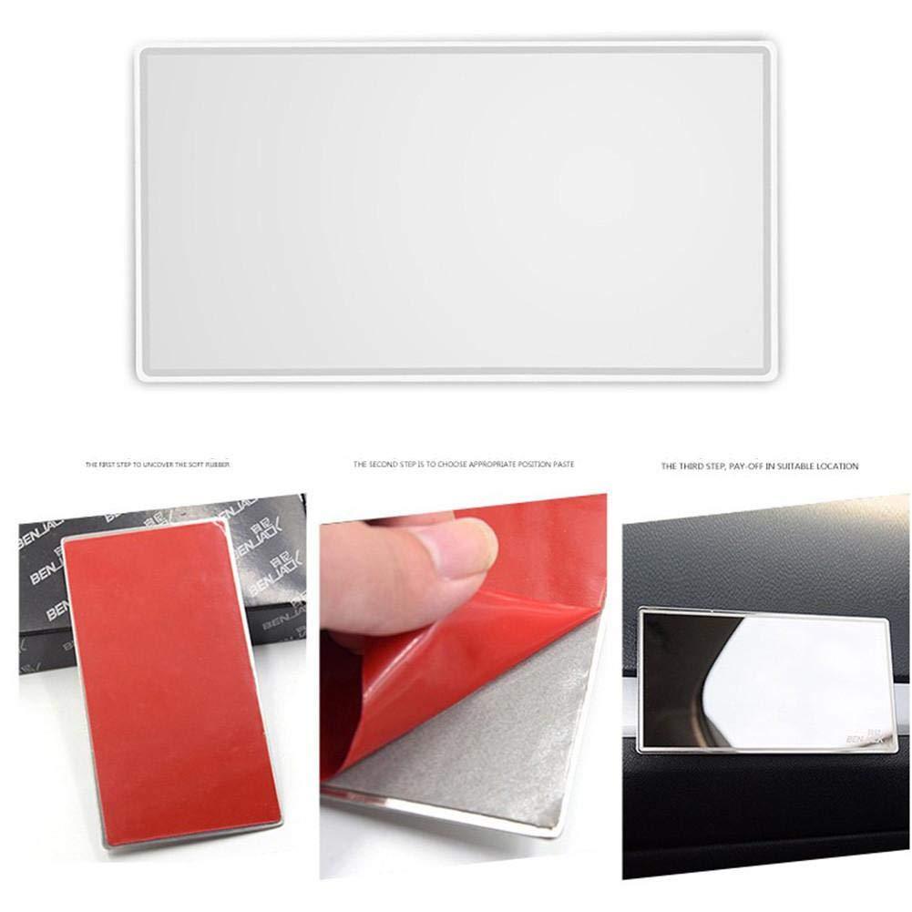 awhao Specchietto per Auto Specchio Universale per Viaggio Specchietto per Auto Solare Acciaio Inox Specchi per Interni HD Specchio per ombreggiatura Solare per Camion Visiere Parasole masterly