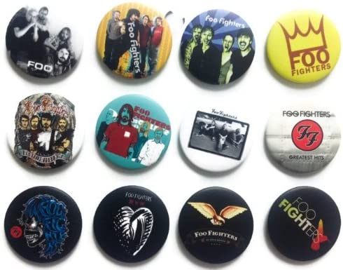 The Bigger Vivider 1.75 Lot 12 Awesome Pin Button FOO FIGHTERS Dave Grohl fan 1