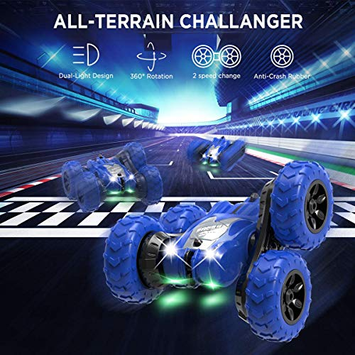 AFUNX Remote Control Car, RC Stunt Double Sided 360° Rolling Rotating Rotation Cars, High Speed Off Road Racing Truck…