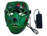 ShiyiUP Halloween LED Luminescent Funny Face Mask