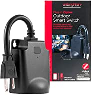 Enbrighten Zigbee Smart Light Switch Outdoor Plug-In, Weather-Resistant, Pairs Directly with Echo 4th Gen/Echo