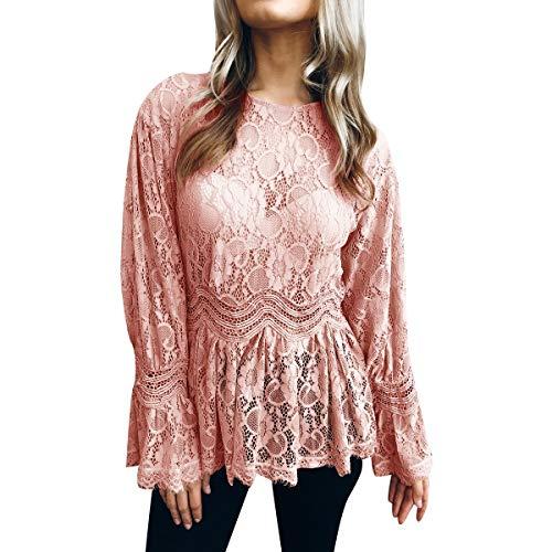 Courtes Pink col T Manches Shirt Courtes Femme Manches Femme Rond Gadfjuotg x8SXqvwv