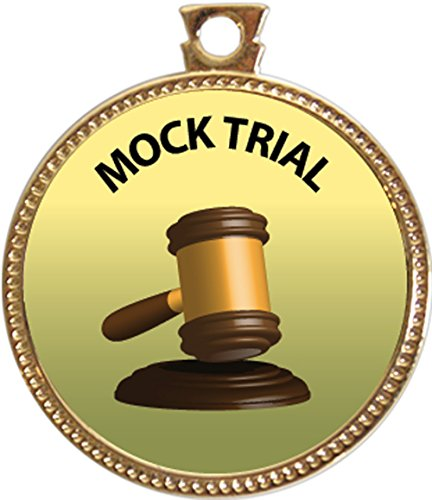 Keepsake Awards Mock Trial, Award, 1 inch dia Gold Medal Special Knowledge Collection