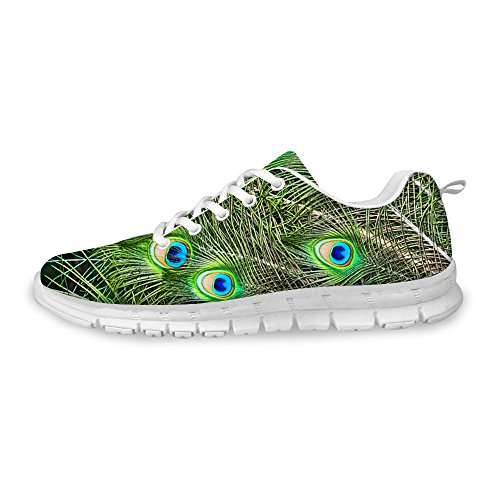 FOR U DESIGNS Fashion New Style Unisex Flex Light Mesh Breathable Sneaker Running Shoes Green 1 Ai91Dls