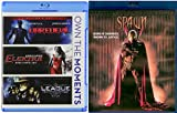 SPAWN Blu Ray & Marvel Super Hero Daredevil / Elektra & The League of Extraordinary Gentlemen 4 Movie Comics Bundle Set