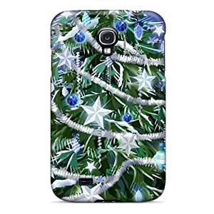 NfQ1276lbcP Tpu Phone Case With Fashionable Look For Galaxy S4 - Beautiful Dressed Christmas Tree