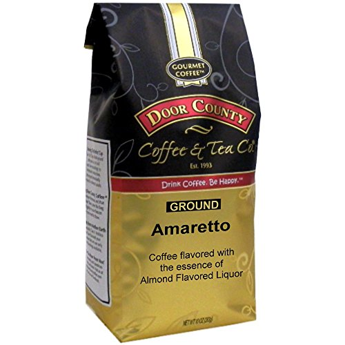 Door County Coffee, Amaretto, Ground, 10oz Bag
