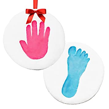 Amazon sale baby handprint makes 2 keepsake ornament kit baby handprint makes 2 keepsake ornament kit perfect personalized baby shower negle Choice Image