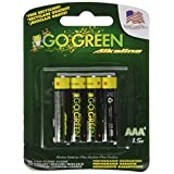 Perfpower Go Green AAA Alkaline Batteries, 4 Count