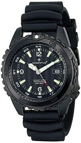 Momentum Men's 1M-DV68B1B D6 Night Vision Analog Display Japanese Quartz Black Watch