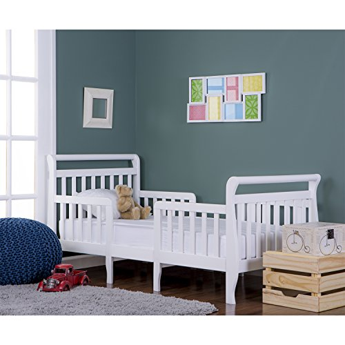 emma 3 in 1 convertible toddler bed, white