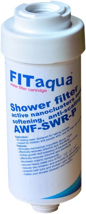 FitAqua AWF-SWR-P Filtro de Ducha: Amazon.es: Hogar