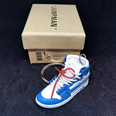 5c84bfaf88797 Amazon.com: Air Jordan 1 I High Retro Off White UNC Blue OG Sneakers ...