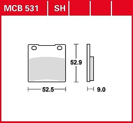 plaquette de freins Lucas MCB531SH pour Kawasaki ZRX 1100 C ...