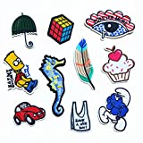 Iron On Patches - DIY Sew Decoration Appliques Stickers Embroidery Patches Cloth, Repair The Hole Stick (10 Pcs)