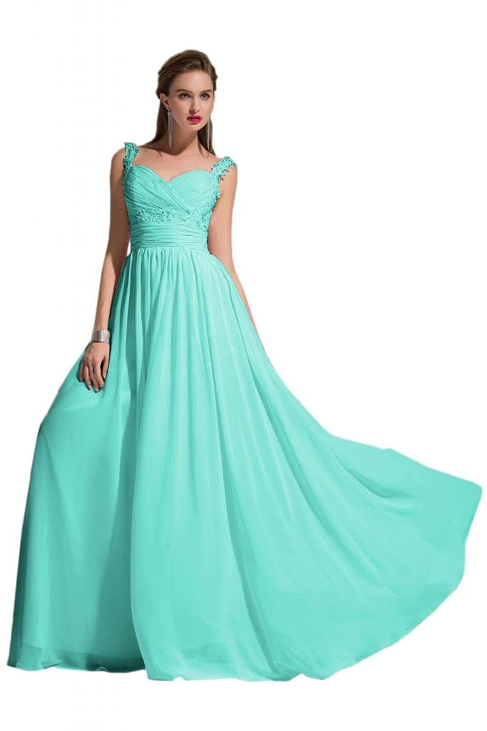 Sunvary Satin One Shoulder Draped Ruffle Evening Prom Dresses for Women