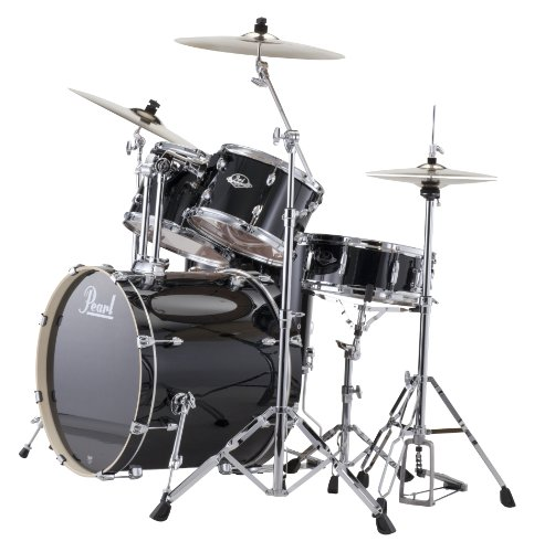 Pearl EXX725/C 5-Piece Export Standard Drum Set with Hardware - Jet Black ()