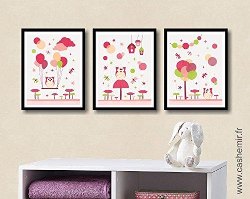 Affiche chambre bébé fille décoration chambre bébé déco chambre ...