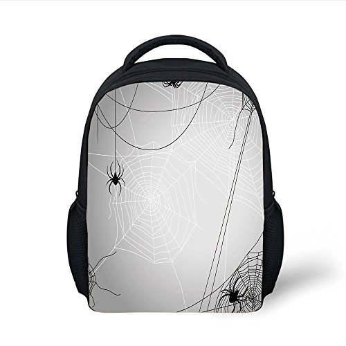 iPrint Kids School Backpack Spider Web,Spiders Hanging from
