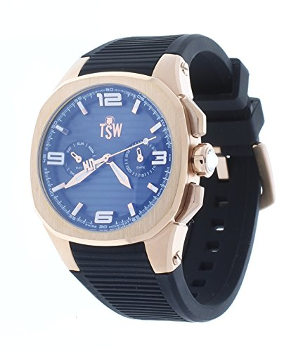 Technosport TS-100-PP1 Womens Rose Gold & Black Swiss Day/Date Watch