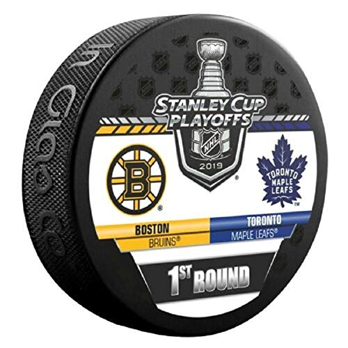 (2019 Stanley Cup Playoffs Hockey Puck 1ST Round Bruins Maple Leafs Finals Shipping Now!!!)