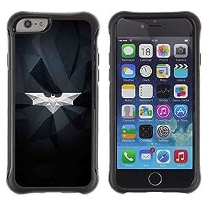 Suave TPU GEL Carcasa Funda Silicona Blando Estuche Caso de protección (para) Apple Iphone 6 / CECELL Phone case / / Bat White Geometrical Art Modern Structure /